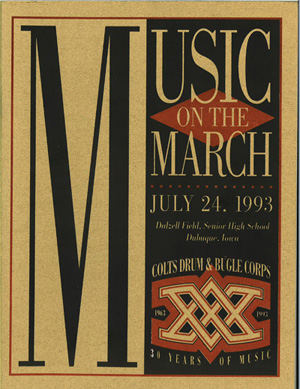 1993 Music On The March Program